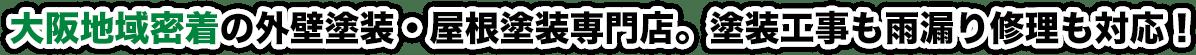 大阪府摂津市・豊中市・茨木市・寝屋川市で創業30年。外壁塗装、屋根塗装、防水工事専門