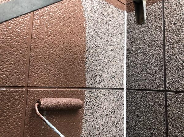 大阪府豊中市 D様邸 外壁塗装 3度塗り 上質な仕上がりになる『ダイフレックス ダイヤカレイド』 (1)