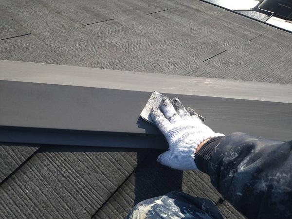 大阪府大阪市 D様邸 屋根塗装・外壁塗装・付帯部塗装 棟板金塗装 ケレン作業 (1)