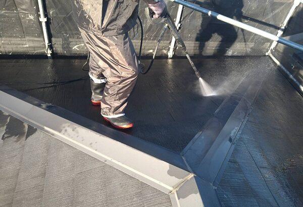 大阪府大阪市 D様邸 屋根塗装・外壁塗装・付帯部塗装 下地処理 高圧洗浄 (3)