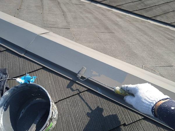 大阪府大阪市 D様邸 屋根塗装・外壁塗装・付帯部塗装 棟板金塗装 ケレン作業 (3)