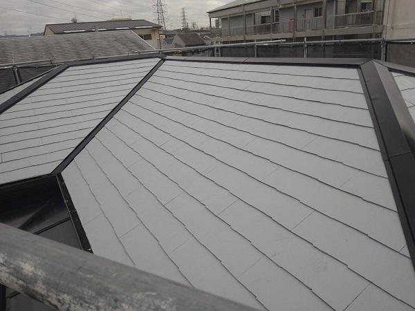 大阪府豊中市 D様邸 屋根塗装 外壁塗装 棟板金補修 日本ペイント 遮熱塗料 サーモアイ (2)