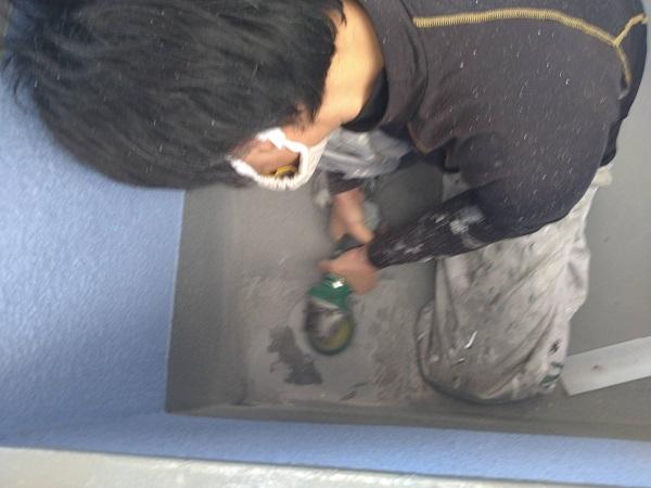 大阪府茨木市 ドレン改修工事 ベランダ防水工事 雨漏り補修 (5)