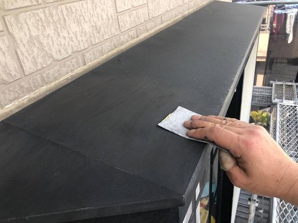 大阪府摂津市 外壁塗装 屋根塗装 霧除け庇塗装 雨漏りに発展するケースとは (1)