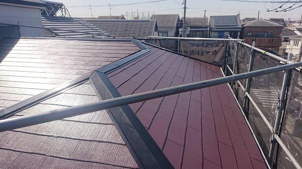 大阪府吹田市 屋根塗装 縁切りとは 日本ペイント サーモアイ4F (1)