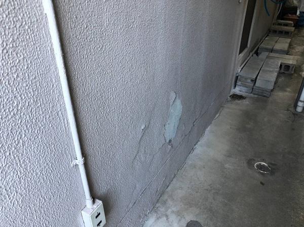 大阪府大阪市 外壁塗装 モルタル外壁の膨れ エスケー化研 水性ソフトサーフSG (9)