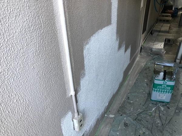 大阪府大阪市 外壁塗装 モルタル外壁の膨れ エスケー化研 水性ソフトサーフSG (4)