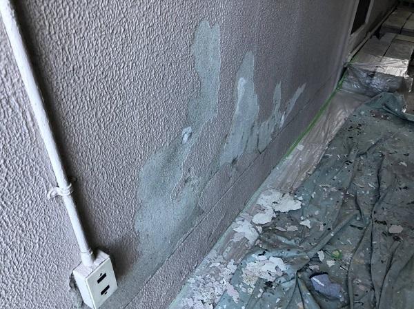 大阪府大阪市 外壁塗装 モルタル外壁の膨れ エスケー化研 水性ソフトサーフSG (7)
