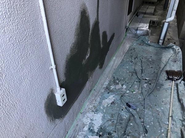 大阪府大阪市 外壁塗装 モルタル外壁の膨れ エスケー化研 水性ソフトサーフSG (5)