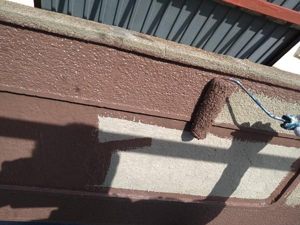 大阪府吹田市 外壁塗装 搔き落とし仕上げ カチオンフィラーで下地調整 (1)