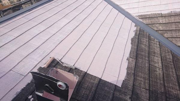 大阪府吹田市 屋根塗装 棟板金の釘の打ち直し 下塗り (2)