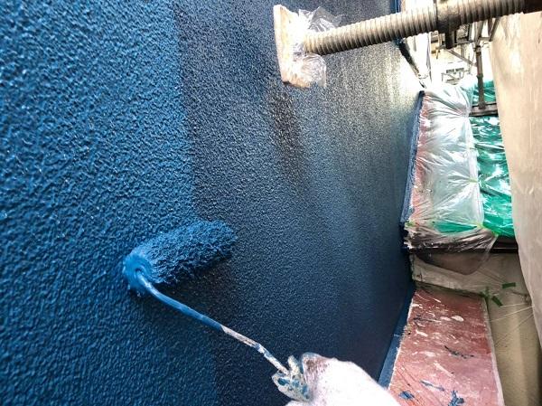 大阪府大阪市 外壁塗装 モルタル外壁 微弾性フィラー (1)