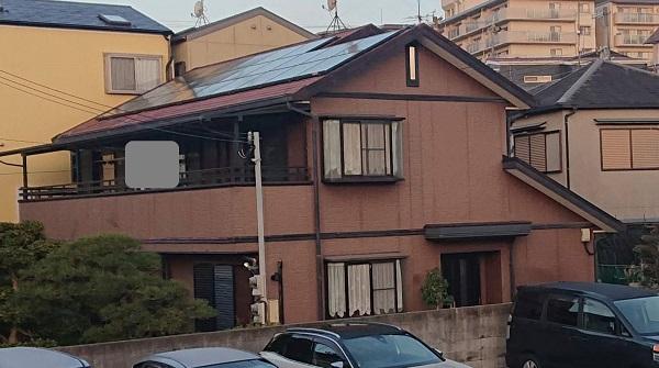 大阪府摂津市 屋根塗装 外壁塗装 付帯部塗装 (5)