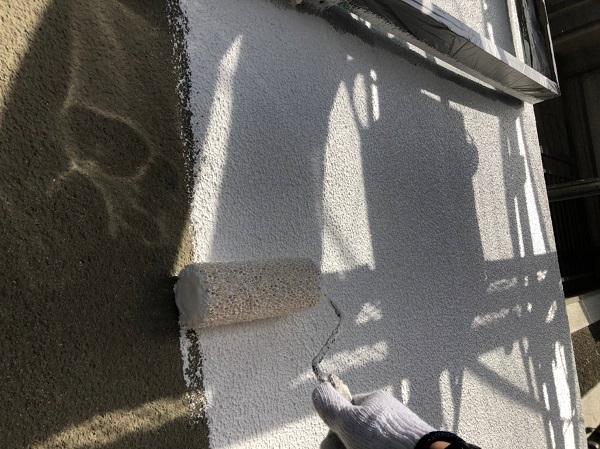 大阪府大阪市 外壁塗装 モルタル外壁 微弾性フィラー (4)
