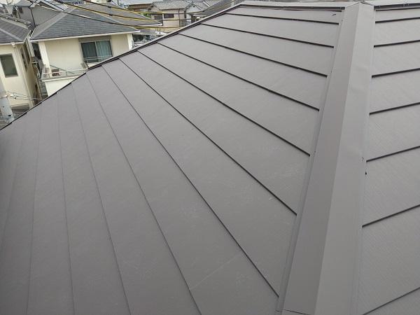 大阪府大阪市 I様邸 屋根重ね葺き工事(カバー工法) 工程 ガルバリウム鋼板屋根 (5)