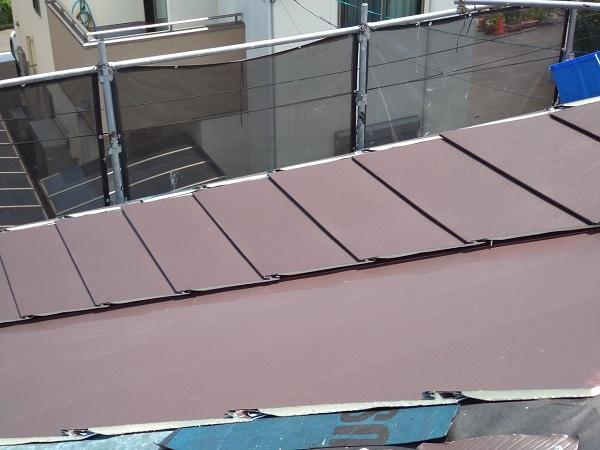 大阪府大阪市 I様邸 屋根重ね葺き工事(カバー工法) 工程 ガルバリウム鋼板屋根 (10)