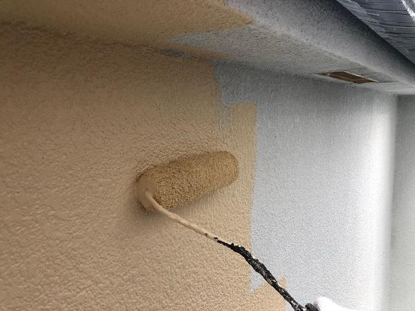 大阪府摂津市 T様邸 屋根塗装・外壁塗装・付帯部塗装 モルタル外壁 ダイヤスーパーセランフレックス (5)