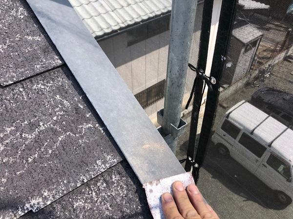大阪府摂津市 T様邸 屋根塗装・外壁塗装・付帯部塗装 棟板金、ケラバ、屋根塗装 (4)