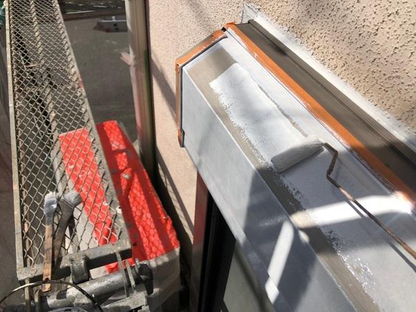 大阪府枚方市 I様邸 外壁塗装・付帯部塗装 水切り板金塗装 シャッターボックス塗装 (8)