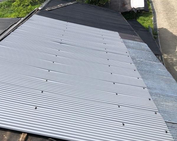 大阪府寝屋川市 K様邸 屋根塗装、修理 倉庫 (7)