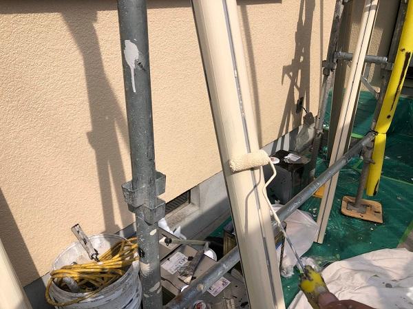 大阪府摂津市 T様邸 屋根塗装・外壁塗装・付帯部塗装 エアコンホースカバー、水切り塗装 完工 (4)