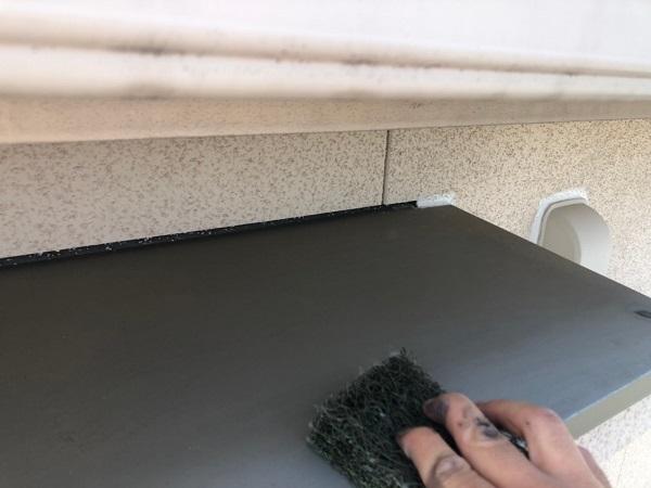 大阪府枚方市 I様邸 外壁塗装・付帯部塗装 霧除け庇塗装 塀塗装  (5)