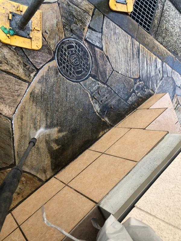 大阪府枚方市 I様邸 外壁塗装・付帯部塗装 下地処理 高圧洗浄 (7)