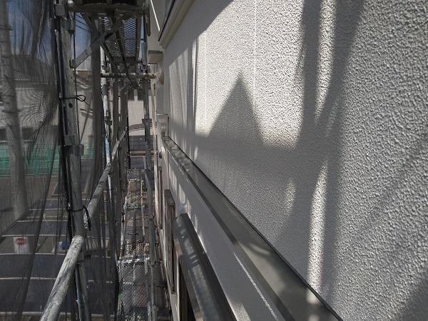 大阪府枚方市 I様邸 外壁塗装・付帯部塗装 霧除け庇塗装 塀塗装  (1)