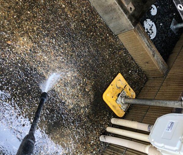 大阪府枚方市 I様邸 外壁塗装・付帯部塗装 下地処理 高圧洗浄 (1)