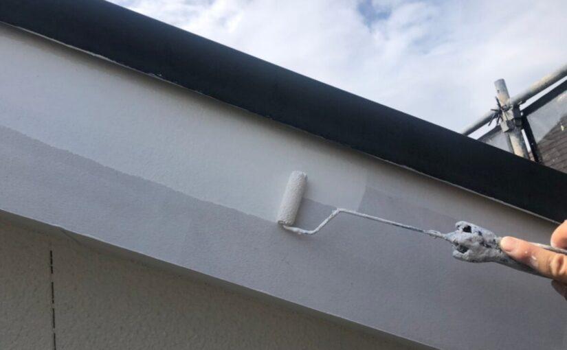 大阪府枚方市 I様邸 外壁塗装・付帯部塗装 破風板、ケラバ、鼻隠しの違い 雨樋塗装 (2)