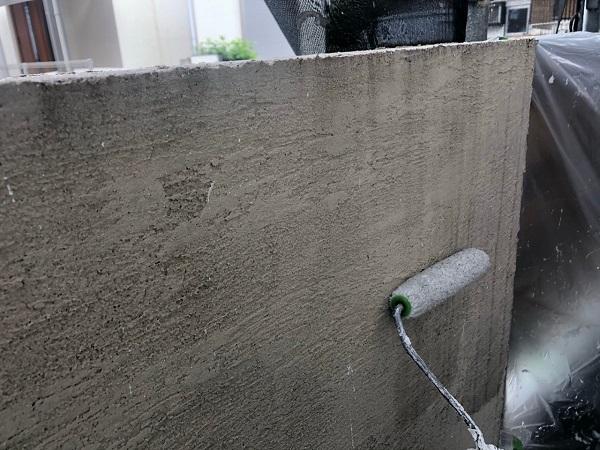 大阪府枚方市 I様邸 外壁塗装・付帯部塗装 霧除け庇塗装 塀塗装  (3)