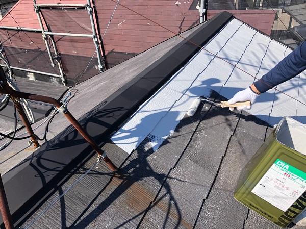 大阪府摂津市 T様邸 屋根塗装・外壁塗装・付帯部塗装 棟板金、ケラバ、屋根塗装 (1)