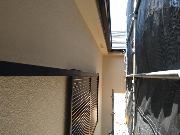 大阪府摂津市 T様邸 屋根塗装・外壁塗装・付帯部塗装 モルタル外壁 ダイヤスーパーセランフレックス (4)