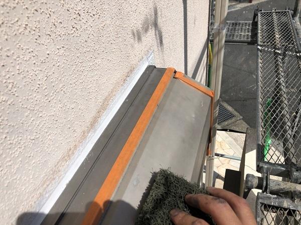 大阪府枚方市 I様邸 外壁塗装・付帯部塗装 水切り板金塗装 シャッターボックス塗装 (7)