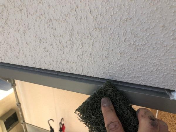 大阪府枚方市 I様邸 外壁塗装・付帯部塗装 水切り板金塗装 シャッターボックス塗装 (6)