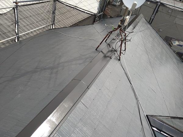 大阪府摂津市 T様邸 屋根塗装・外壁塗装・付帯部塗装 棟板金、ケラバ、屋根塗装 (2)