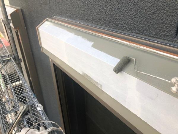 大阪府枚方市 I様邸 外壁塗装・付帯部塗装 水切り板金塗装 シャッターボックス塗装 (9)