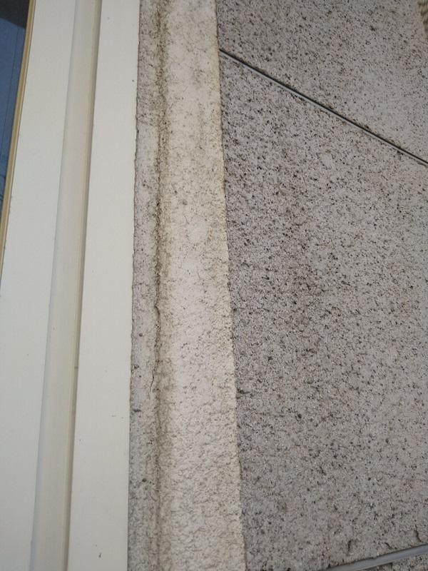 大阪市住吉区永井西 府営住宅 外壁塗装・防水工事 モルタルの劣化症状 爆裂補修 (1)