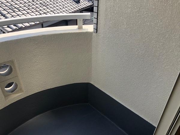 大阪府大阪市住吉区 府営住宅 外壁塗装・防水工事 ベランダ ウレタン防水工事 密着工法 (4)