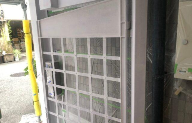 鉄部扉の塗装の画像